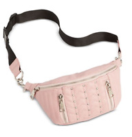 Steve Madden Convertible Belt Bag Fanny Pack *BLUSH/BLACK *BRAND NEW WITH TAGS