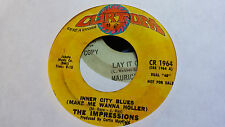 The Impressions 45 Inner City Blues (Make Me Wanna Holler) Promo Rare Soul