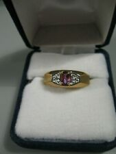 10K Amethyst Ring Size 10 New Old Stock