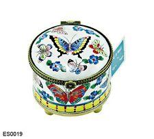 Kelvin Chen Enamel Copper Hand painted Stamp Dispenser Holder - Butterfly