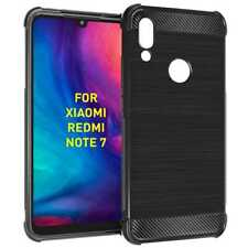 Funda TPU Carbono Bordes Reforzados Antiarañazos para Xiaomi Redmi Note 7 Negra