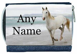 Denim Purse With HORSE Design *Personalised*