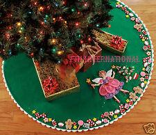 "Bucilla Sugar Plum Fairy ~ 43"" Felt Christmas Tree Skirt Kit #85445 Candy Cookie"