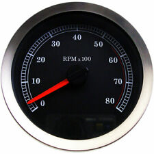 "Stock Repl. 4"" Electronic Tachometer Black Face 2004-13 Harley Models"
