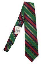 NEW Polo Ralph Lauren Silk Tie!  Green or Yellow  Stripe Pattern   ITALY
