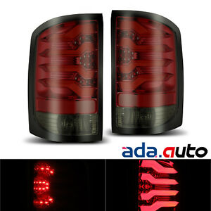 Fits 2014-2017 GMC Sierra 1500/2500/3500 3D LED Pro Series Red Tail Lights Pair