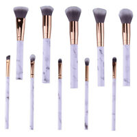 10 tlg Marmor Make up Design Lidschatten Pinsel Brush Kosmetik Schminkpinsel Set