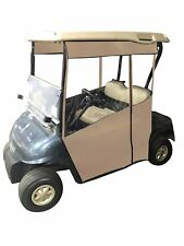 Track-Style Golf Cart Enclosure - Vinyl (Black Vinyl, Club Car Precedent/Onward)