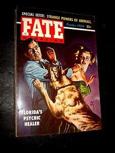 October 1954 Fate Magazine Ghosts, ESP Animals, Combustible Women psychic healer