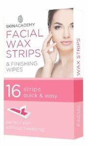 New Pretty 16 Facial Wax Strips & Finishing Wipes For Face Chin Upper Lip Jaw