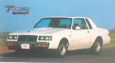 Buick GS 455 vs Buick T Type  Road Test Brochure