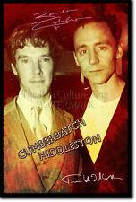 Benedicto CUMBERBATCH Tom Hiddleston Arte Foto impresión 2 Poster