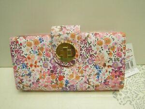 Buxton NWT Gorgeous Floral Print Women's SUPER WALLET/ ORGANIZER $45 Retail