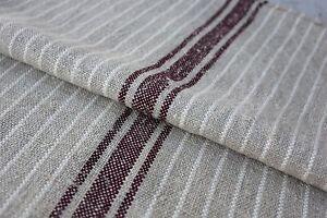 GRAIN SACK feedsack feedbag old linen hemp RARE striated flax cotton grainsack