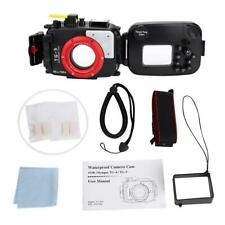 Black 60M Underwater Waterproof Housing Case Diving Cover For Olympus TG5 Camera