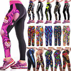 Women Yoga Gym Sports Fitness Stretch Running Tights Capri Cropped 3/4 Pants
