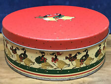 Retro Biscuit Tin Hudson's Pantry Scotland Goose Design Cookie Christmas Tin Red