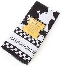 Black and White MacKenzie Childs Mrs Powers Dish Towel Set of 2