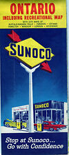 1964 Sunoco Ontario Vintage Road Map