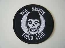 MISFITS PATCH Fiend Club Iron On Skull Samhain Glenn Danzig Band Badge Logo NEW
