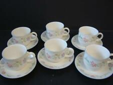 ROYAL DOULTON EXPRESSIONS SUMMER CARNIVAL 6 X CUPS & SAUCERS