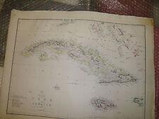Jamaica Cuba Islands map circa 1863 Dispatch Atlas- drawn T.Ettling Framed20more