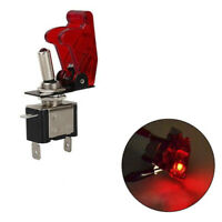 12V 20A Red Cover LED Light Rocker Toggle Switch SPST ON/OFF Car Marine B Px