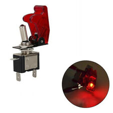 12V 20A Red Cover LED Light Rocker Toggle Switch SPST ON/OFF Car Marine Boat-SL