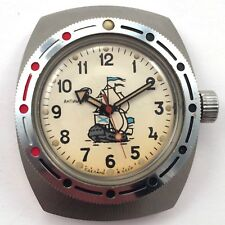 Vintage RUSSIAN VOSTOK AMPHIBIAN Collectible DIVER WATCH *US SELLER* #1018