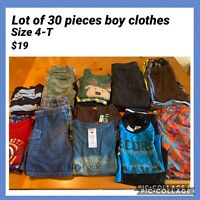 Lot Of 30 Pieces Boy Clothing Size 4t