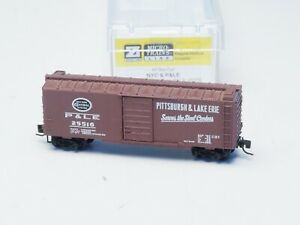 EARLY 14105-1 MTL  MicroTrains Z-scale 40' box car  NYC & P&LE