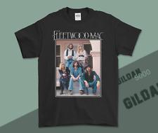 New Fleetwood Mac Vintage T-Shirt  Black Gildan T-shirt Regular Size S-3XL