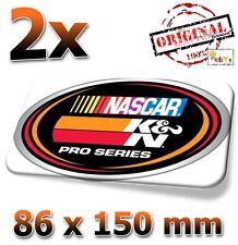 2x ORIG. K&N NASCAR Motorsport 86x150mm Sticker, Aufkleber, Decal, KN, K und N