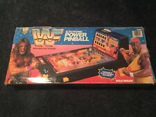 1991 Playtime Hulk Hogan Electronic Power Pinball Game WWF Ultimate Warrior Rare