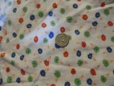 VINTAGE FULL SIZE FEEDSACK FEED SACK NOVELTY RED LIME BLUE DAISY IN POTS NOVELTY
