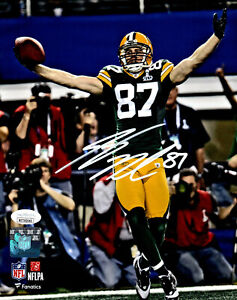 Packers Receiver JORDY NELSON Signed 8x10 Photo #13 AUTO - SB XLV Champ - JSA
