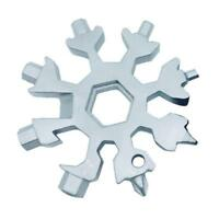 18-in-1 Multi-tool Combination Compact Portable OutdoorSport Snowflake Tool Card