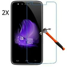 2x Glass Film for Homtom HT50 Premium Display Screen Film Protector Tempered ...