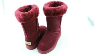 Snow Paw Women's Suede Boots with Sheepskin Lining Shoes Size New