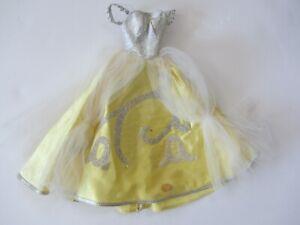 Vintage 1963 Barbie Little Theater Costume Cinderella Yellow Satin Gown