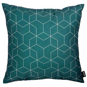 Modern Geometric Cushion Teal Blue Green SofaThrow Pillow Case Cover 45cm 18in