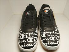 Champion Super C Court Low Print Black White Red Men's 12 Shoes Sneakers New