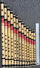 Bamboo flute set of 13 proffessional flutes~Bansuri~Bansi~Venu~tuned @440
