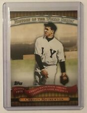 2010 Topps History of the World Series Christy Mathewson HWS1 Baseball Card