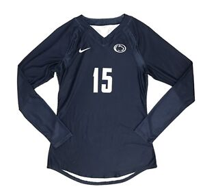 Nike Penn State Volleyball #15 Women's S Long Sleeve Game Jersey Blue $105