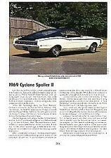 1969 Mercury Cyclone Spoiler II Article - Must See !!