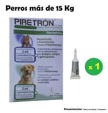 Pipette Leishmaniose Chiens +15 Kg Anti Puces, Tiques et les poux PIRETRON 2ml