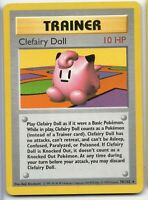 Clefairy Doll - Shadowless Base Set - 70/102 - Rare - Pokemon Card Moderate Play
