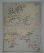British & US Diplomatic & Consular EUROPE, ASIA, AUSTRALASIA & AFRICA 1928 Map