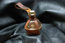 "Glass Potion Bottle w/ Brown Leather ""Pouch"" Renaissance Pirate LARP"